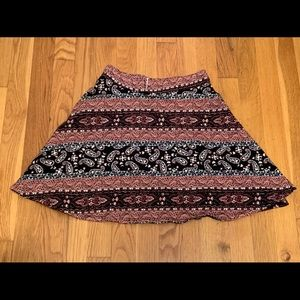 Paisley print cotton mini skirt